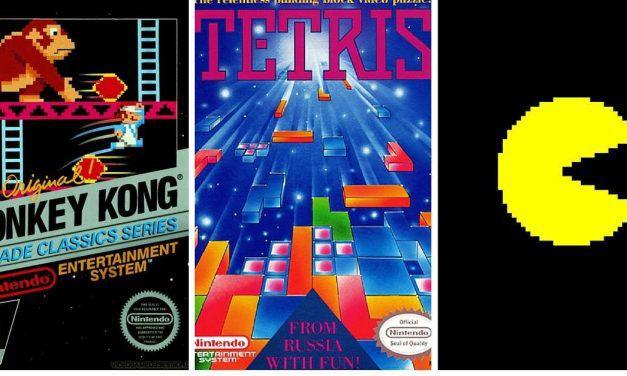 Tetris, Donky Kong, Pac