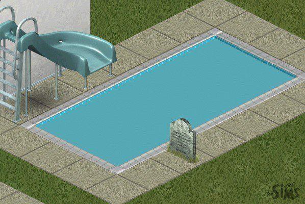 Pool Grabstein SIms