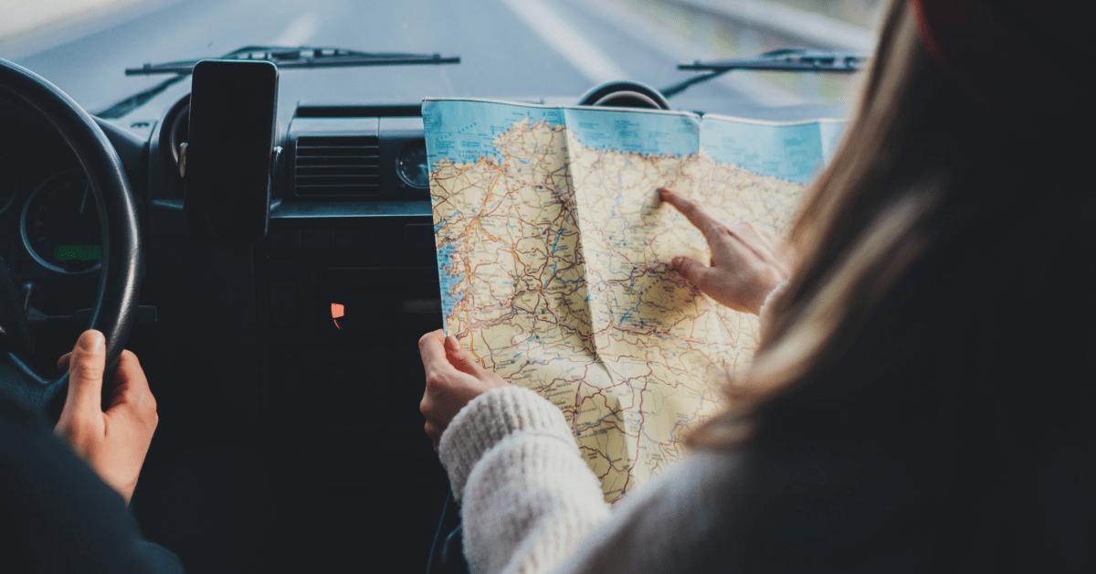 Road Trip Auto Fahren Karte