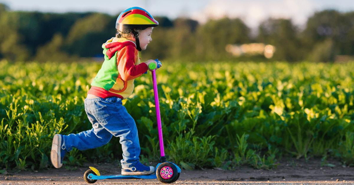 City Roller Fahren Kind Kindheit Spaß Spielen Spielzeug