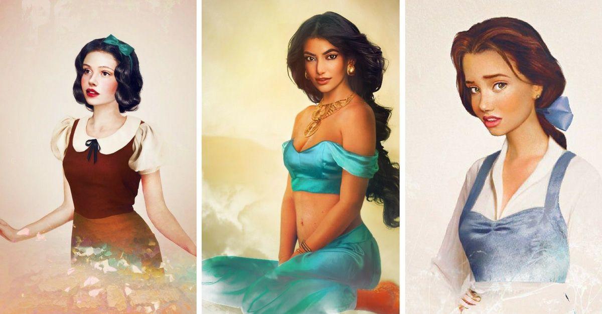 Disney Prinzessinnen in echt -Schneewittchen, Jasmin & Belle
