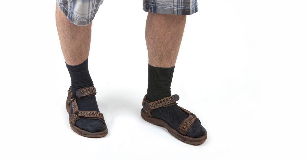Socken Sandalen Hässliche Beine