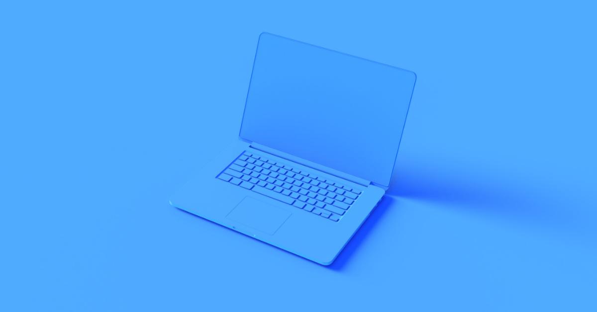 Laptop Blau