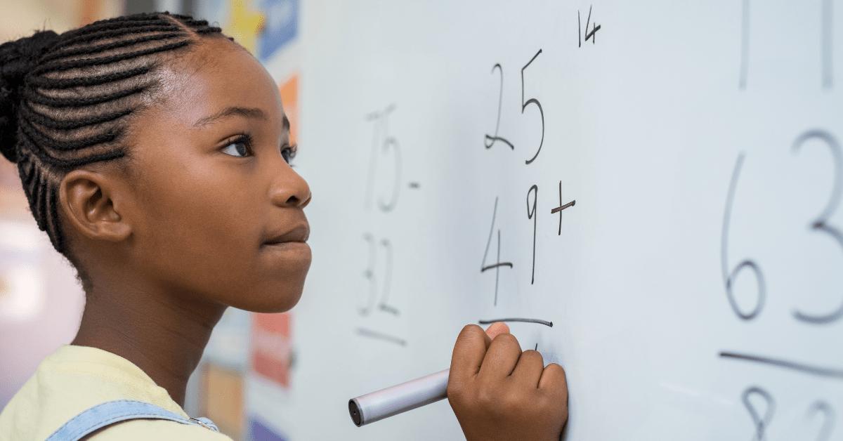 Schule Mathe Mädchen