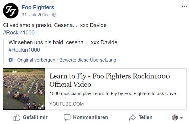 Foo Fighters Post