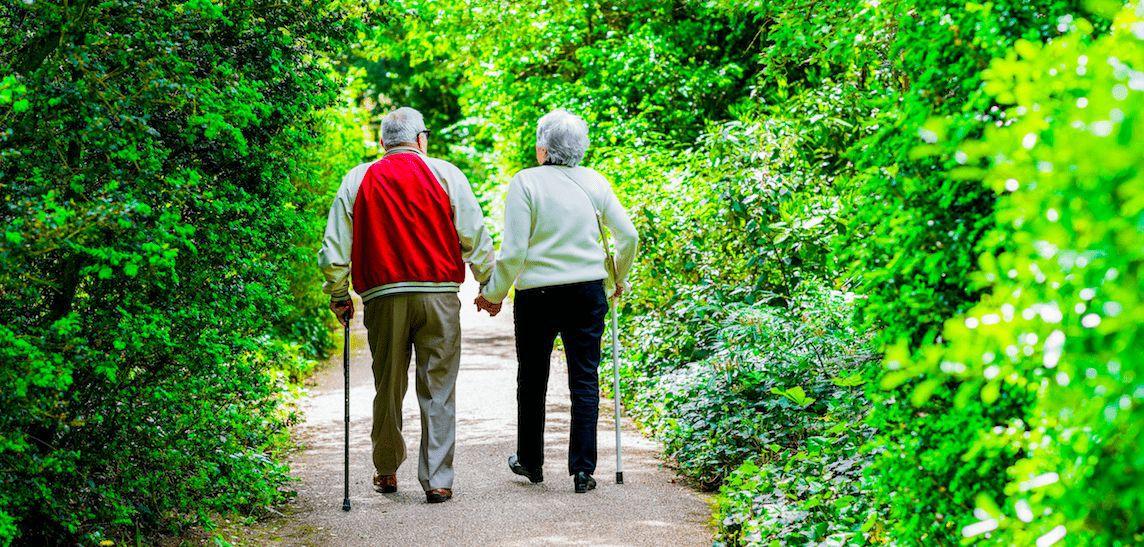 Paare die zusammen alt geworden sind