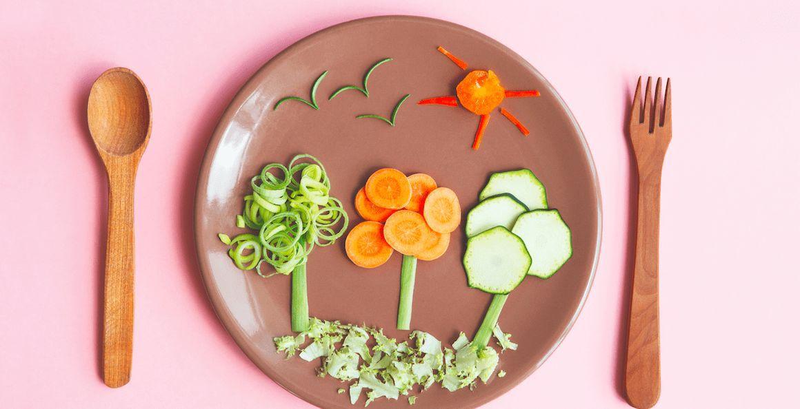 Essen für Kinder arrangieren