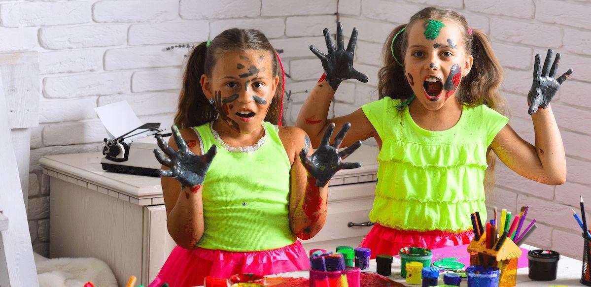 Kinder Gesichter Kunstwerke