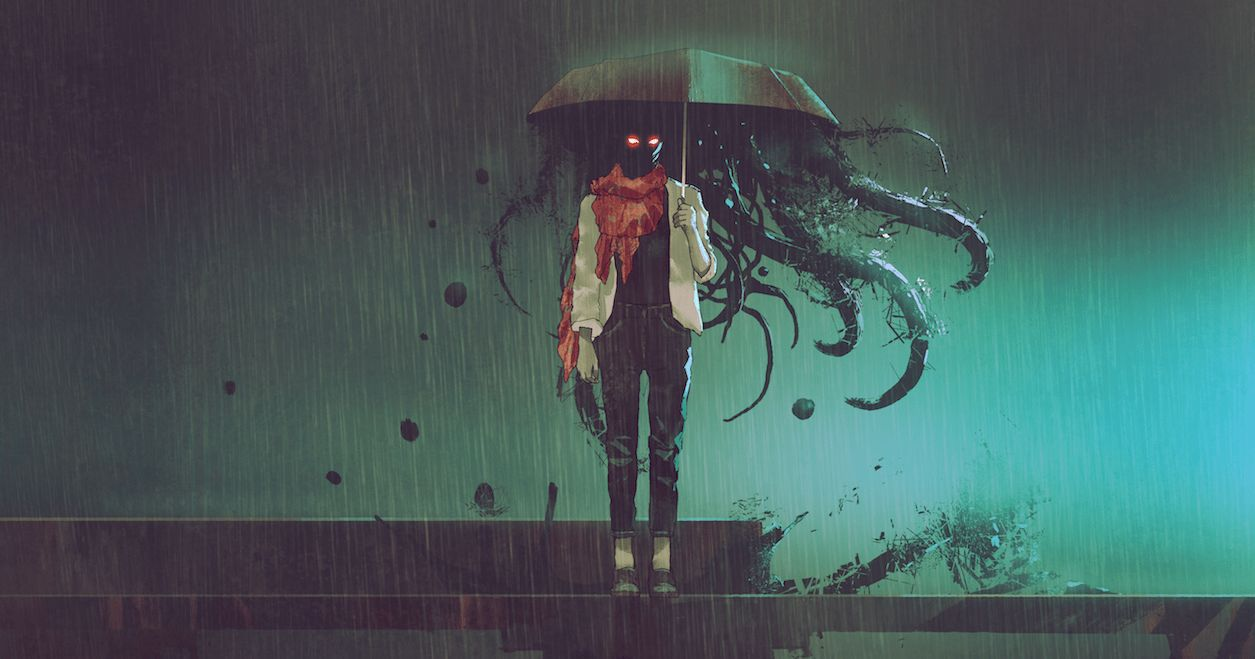 Horrorfilm-Figuren als Comics