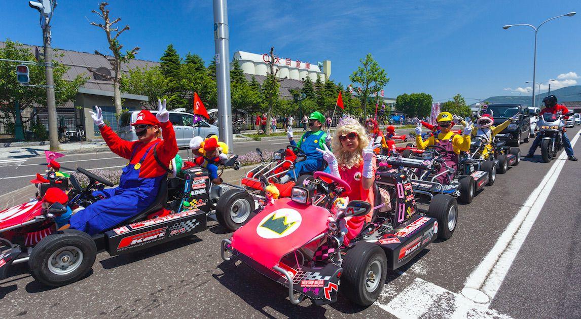 Mario Kart in echt