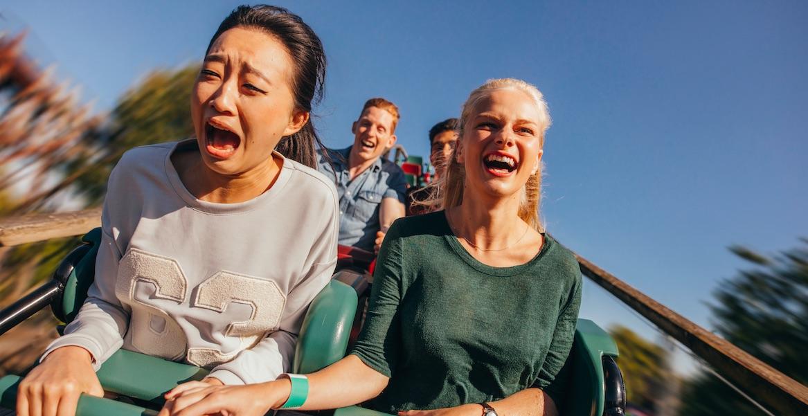 Lustige Fotos aus der Achterbahn