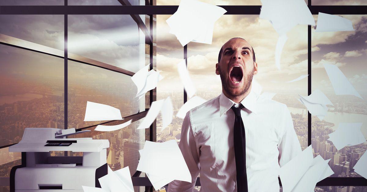 Büro Probleme Drucker