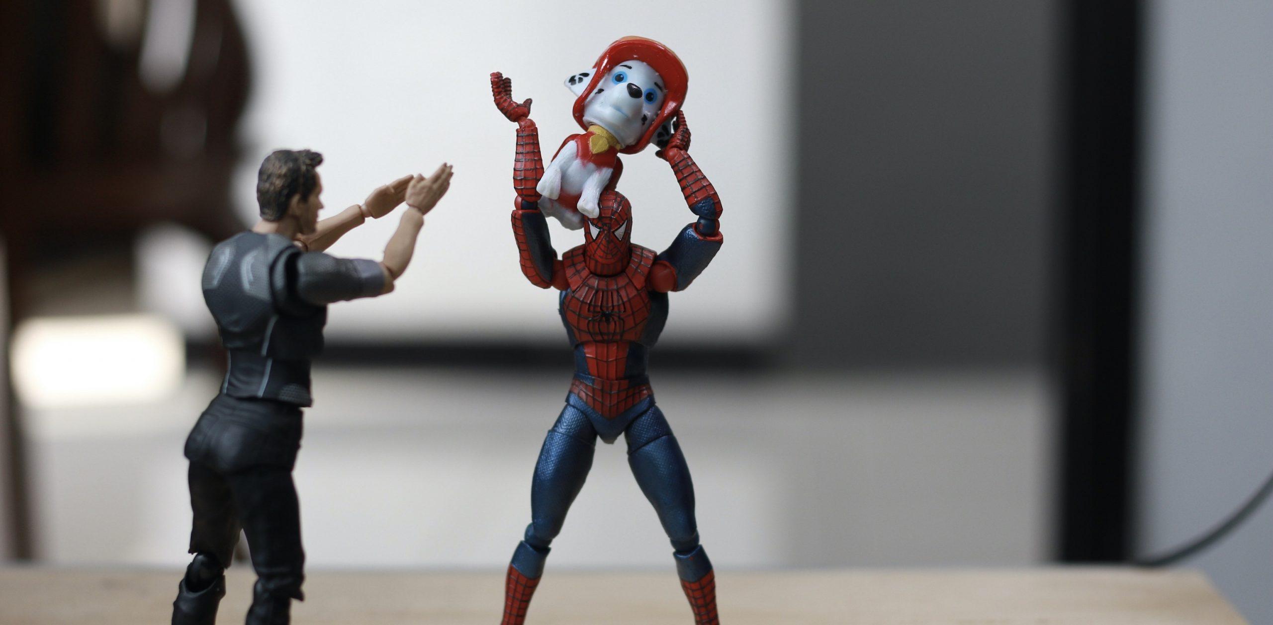 20 süße Bilder von Spiderman, umgeben von Tierbabys!