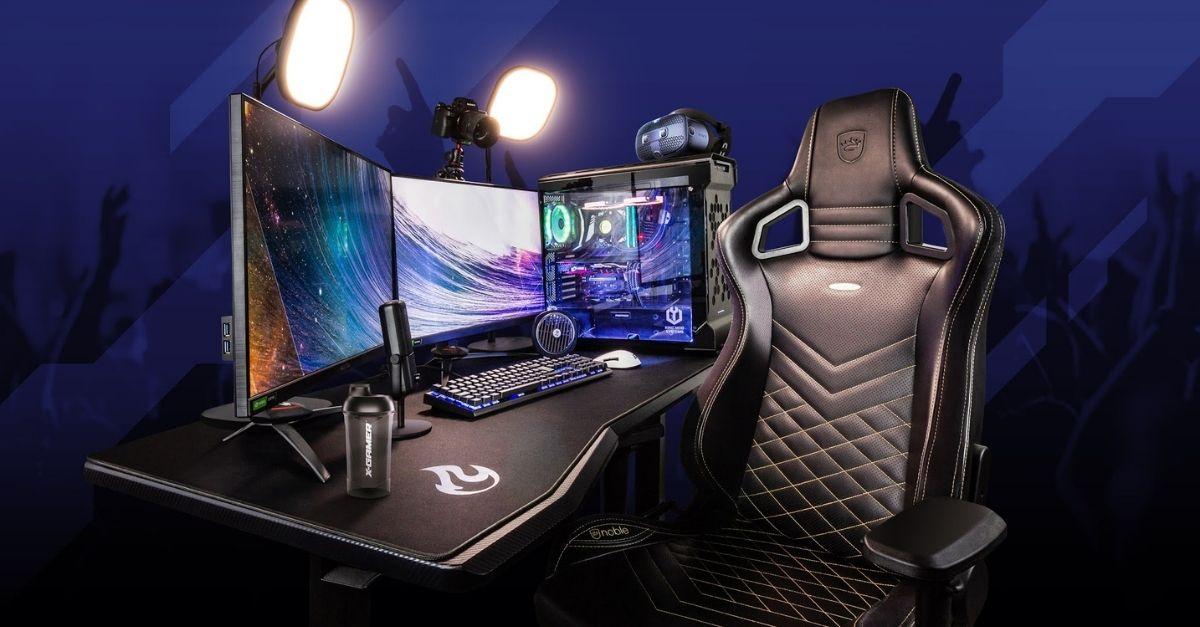 Gaming Setup inkl. Gaming Stuhl von Noblechair